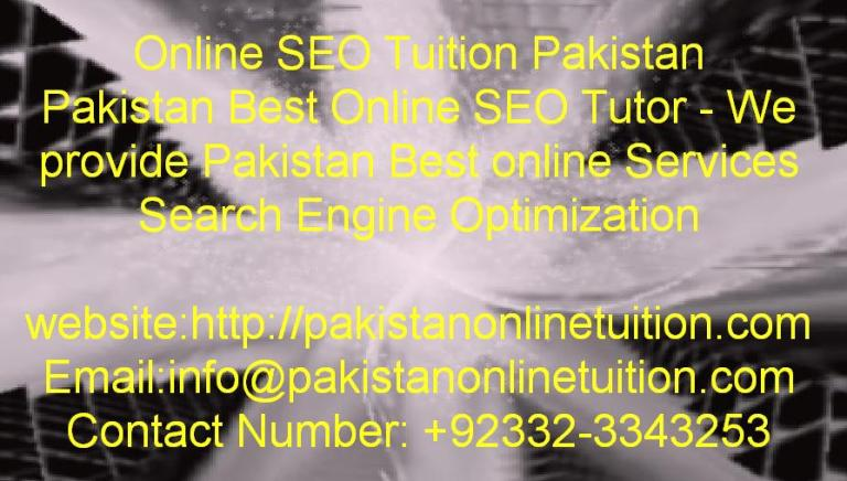 Online seo tutor in Pakistan